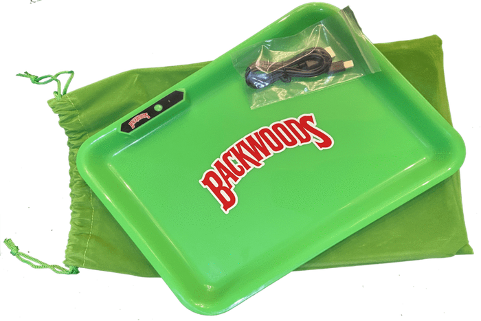 BACKWOODS MULTI COLOR LED GLOW ROLLING TRAY - GREEN