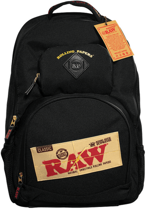 RAW X ROLLING PAPERS BAKEPACK SMELL PROOF BACKPACK - BLACK