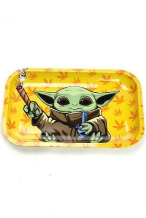 SMOKE ARSENAL METAL ROLLING TRAY YODA BOMB