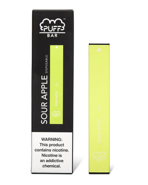 PUFF BAR DISPOSABLE DEVICE SOUR APPLE