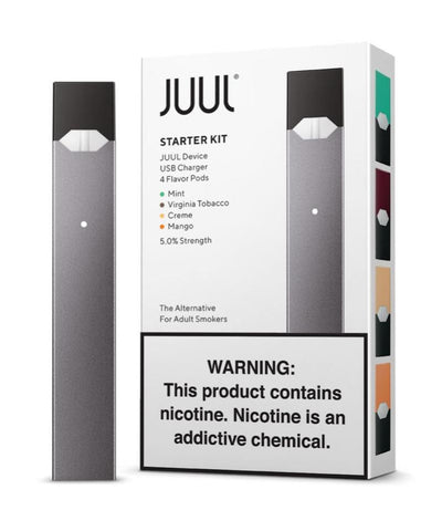 JUUL STARTER KIT WITH CHARGER AND 2 PODS - Green Caviar Club
