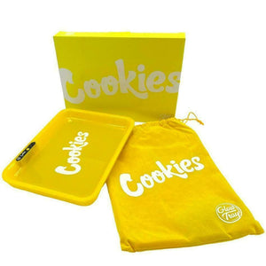 COOKIES MULTI COLOR LED GLOW ROLLING TRAY - YELLOW