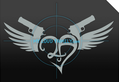 2nd Amendment 2A Heart Wings with 1911 Decal Sticker