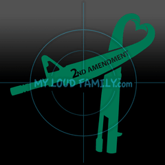 MLF 2A Heart Ribbons Decal Sticker