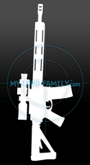 3 gun AR - MLF01 Decal Sticker
