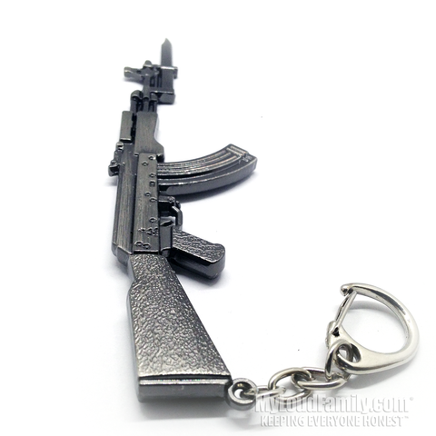 AK 47 with Bayonet Metal Keychain