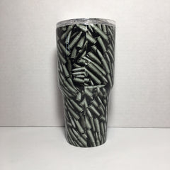AK 47 Bullets Camo metallic 30 oz. Tumbler Full Wrap