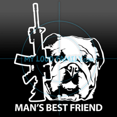 AR and English Bulldog Decal Sticker