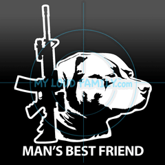 AR15 and American Pit Bull Decal Sticker