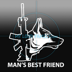 Guns and Pets Decal Stickers