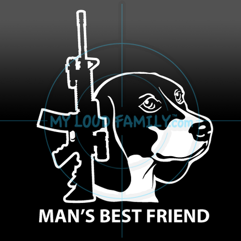 AR15 with Beagle Decal Sticker