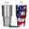 American Flag Skull with Guns 30 oz. Tumbler Full Wrap