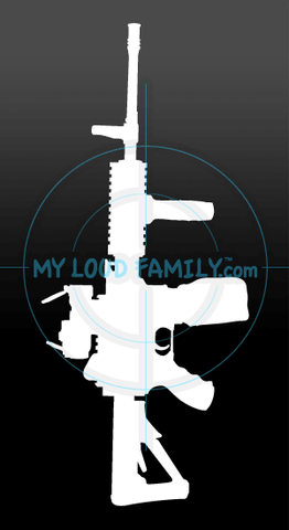 Ares - 16 AMG - Automatic Machine Gun Belt-Fed Decal Sticker