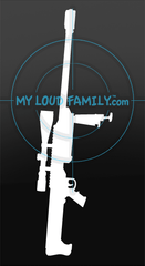 Barrett M99 with Scope and Open Bipod Decal Sticker