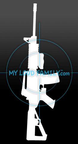 DPMS Oracle with Slide Fire stock and Foregrip Closed Decal Sticker