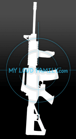 DPMS Oracle with Slide Fire stock and Foregrip Decal Sticker