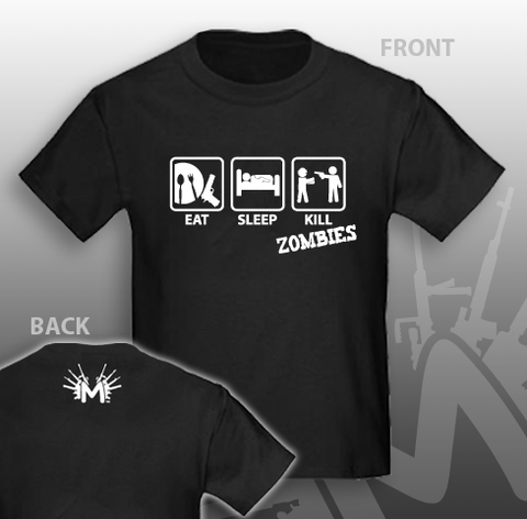 Eat Sleep Kill Zombies with a 1911 T-Shirt