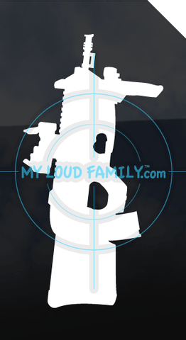 F2000 Tactical TR with Scope and Handle Decal Sticker