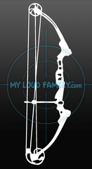 Genesis Compound Bow Decal Sticker