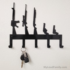 Gun Family Key Holder