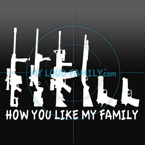 How You Like My Family Gun Family Decal Stickers