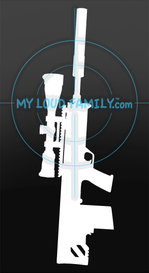Kel Tec RFB 308 Bullpup with Scope and Suppressor Decal Sticker