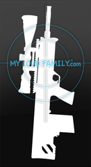 Kel Tec RFB 308 Bullpup with Scope Decal Sticker