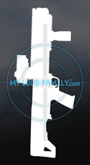 Kel-Tec Shotgun KSG with Fore Grip and Scope Decal Sticker
