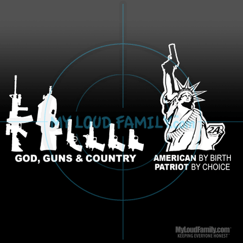 Custom Gun Family & Lady Liberty Decal Stickers