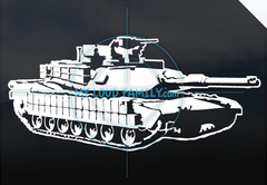 M1 Abrams with Details Decal Sticker
