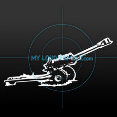 M119A2 Howitzer Decal Sticker
