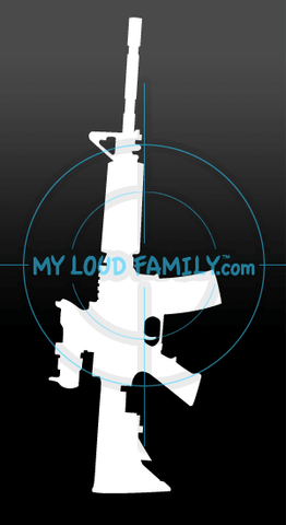 M4 Flat Top with ACOG Decal Sticker