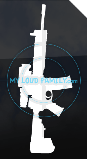 M4 Style AR15 with Aimpoint Flat Top Receiver Decal Sticker