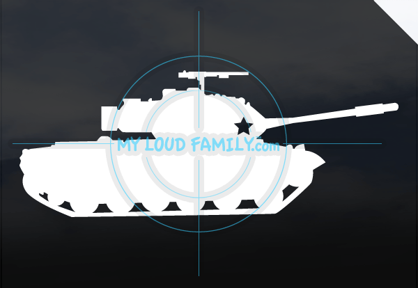 M47 Patton Tank Decal Sticker