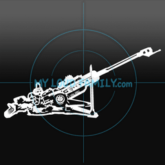 M777A2 Howitzer Decal Sticker