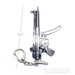 MP5 Closed Stock Metal Keychain