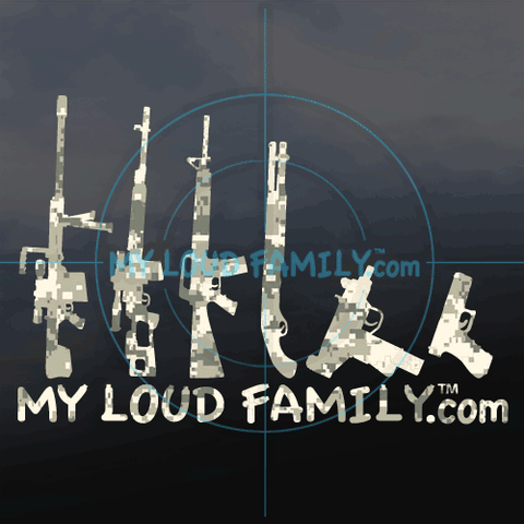 Sand Digital Camo Gun Family Decal Stickers