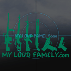 My Loud Family Gun Family Decal Stickers