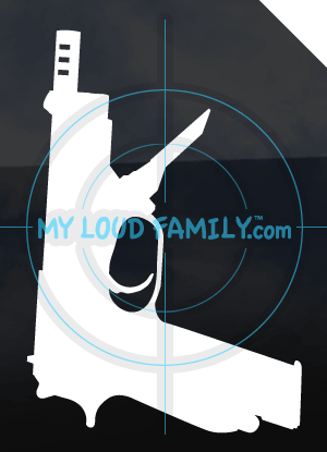Beretta 93R with Extended Magazine Decal Sticker