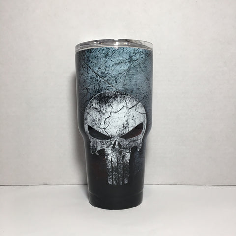 Punisher Skull 30 oz. Tumbler Full Wrap