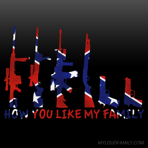 Rebel Flag Gun Family Decal Stickers