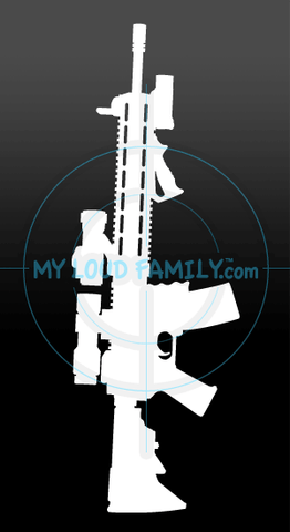 Red Dot Magnified AR Decal Sticker