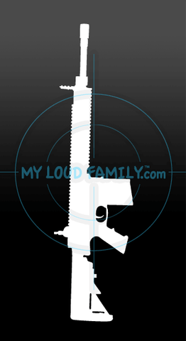 SR25 Carbine Decal Sticker