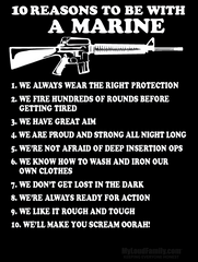 10 Reasons to be with a Marine