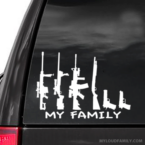 My Family -  10 Decal Stickers