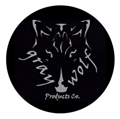 "Grey Wolf 2"" Logo - 100 Stickers"