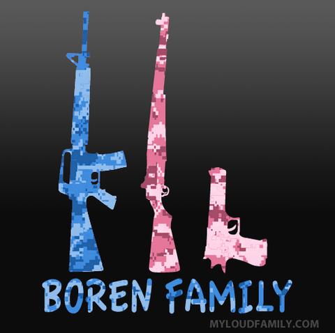 Boren Family Custom Decal Sticker