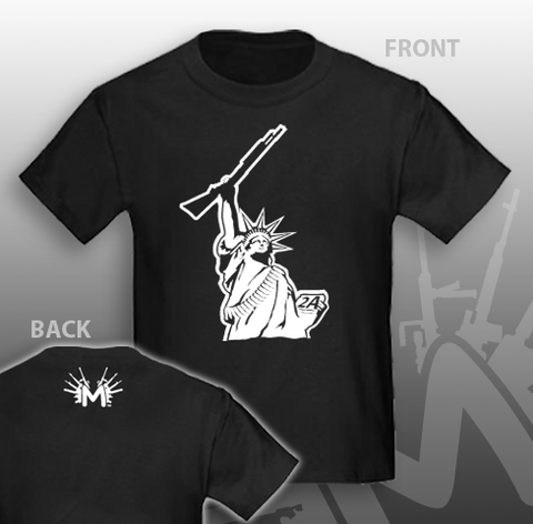 Shotgun Statue of Liberty T-Shirt