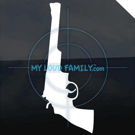 Smith and Wesson model 29 pistol 44 Mag Decal Sticker