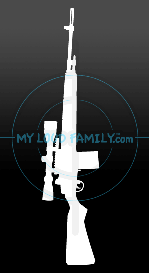 Springfield Armory M1A with Scope Decal Sticker
